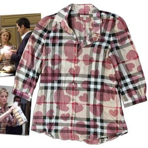 Burberry 'My Funky Valentine' blouse (S)